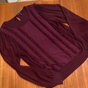 Whitehouse blackmarket red wine blouse  size XL